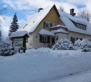 Landhaus im Winter (Foto:Fam. Waibel) Kurpension Wölfel