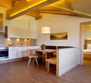 Wohnküche Traum-Ferienwohnung Biobauernhof Nothegg