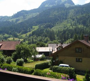 Aussicht vom Balkon Hotel Garni Malerwinkl