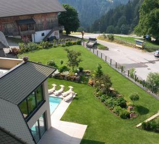 Zimmerblick vom Balkon Suite Kathrein Hotel Sulfner