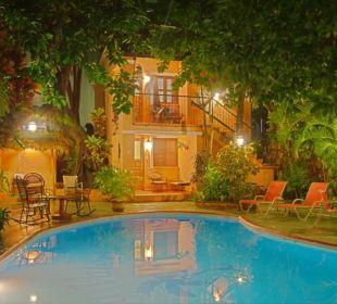 Pool at night..... Hotel Casa Valeria
