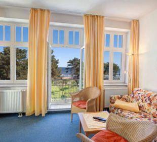3-Raum-Ferienwohnung Meerseite - Wohnzimmer Haus Seeblick Hotel Garni & Ferienwohnungen