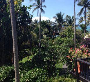 Ausblick aus unserem Zimmer Anantara Bophut Resort & Spa