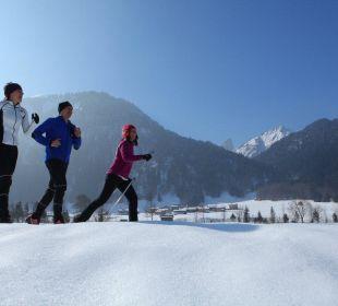 Langlauf und Joggen die Sonnigen Hotel und Restaurant