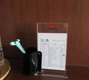 Preisliste Minibar Hotel Grand Jomtien Palace