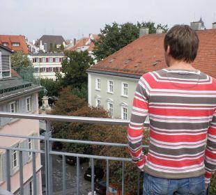 Blick von der Terrasse auf die Altstadt Hotel Lindauer Hof