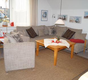 Wohnzimmer mit HD Flachbildschirm, Blue Ray Player Haus Mühlentrift
