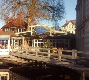 Blick auf das Marina Cafe (Resraurant) Romantik Hotel Bergström