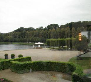 Vom Frühstücksbereich aus Dorint Park Hotel Bremen