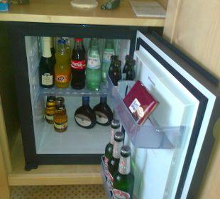 Der Kühlschrank auf dem Zimmer Romantik Hotel Bösehof