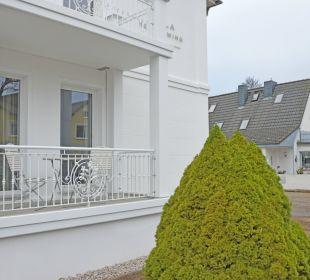 Balkon im Hochparterre Villa Herbstwind - Appartementvermietung Binz