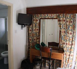 Zimmeransicht mit Badezimmer