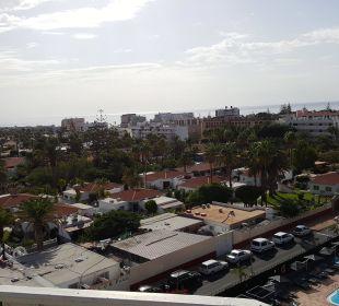 Blick auf die Anlage vom Hotel Rondo aus Hotel Miraflor Suites
