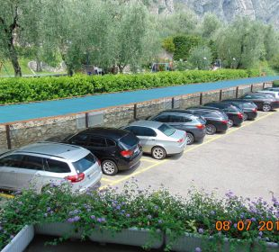 Parkplatz des Hotels Hotel Caravel