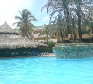 Blick von unserer Terrasse Hotel Pueblo Caribe
