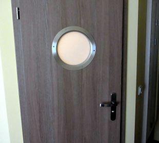 Nette Badezimmertür Aparthotel Strandhus