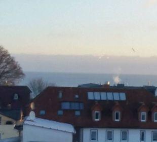 Blick vom Frühstückstisch Hotel Wald und See
