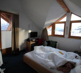 Unser Zimmer im Skiurlaub