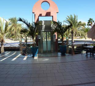 Fahrstuhl zum unteren Bereich Dunas Suites&Villas Resort