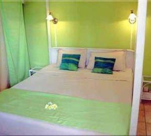 Schlafzimmer im Apartment 'tropic Garden' Gästehaus Bellevue