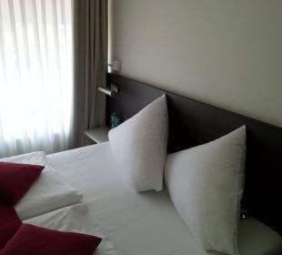 Doppelbett in der Suite Mirabell München