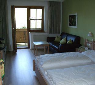 Schlaf- und Wohnbereich  Hotel Almhof