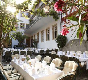 Eingedeckt für die Firmenveranstaltung Weinhaus Henninger Hotel