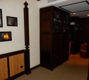 Minibar Schrank und Eingang Lindner Park-Hotel Hagenbeck