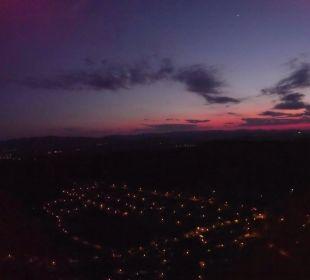 ebenfalls Langdorf bei Nacht (aufgenommen mit einer Drohne) Sonnenhotel Eichenbühl