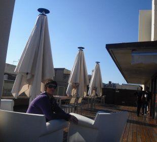 Dachterrasse mit Sonnenplatz Hotel Ciutat de Barcelona