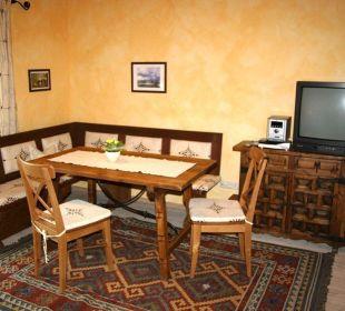 Gemütliche Essecke Ferienwohnung Haus Rosenrot