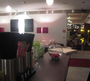 Blick von der Hotelbar/ Lobby zum Restaurant Hotel Elbiente