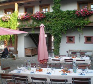 Nette Sitzgelegenheit draussen Hotel Meisnerhof