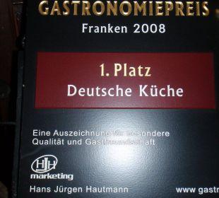 Restaurantpreis 2008 Hotel Schloss Saaleck