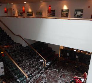 Blick vom 1.Stock aus ARCOTEL Rubin