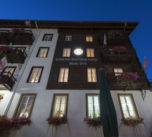 Hotel by night - Sunstar Hotel Saas Fee Sunstar Boutique Hotel Beau-Site Saas-Fee