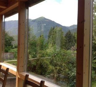 Blick auf die Berge Bio Bauernhof Knaller