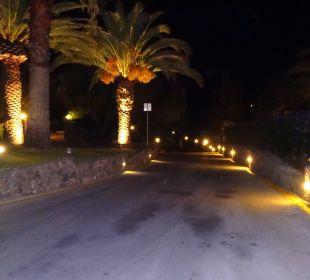 Strasse zum Hotel (vom Hotel aus gesehen) MarBella Corfu Hotel