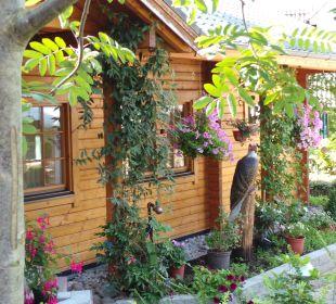 Saunahaus im Garten AKZENT Hotel Kaliebe
