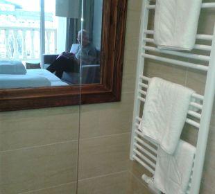 Ausblick aus Dusche Hotel Heigenhauser