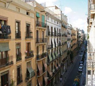 Ausblick vom Balkon Hotel Ciutat de Barcelona