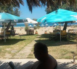 Blick auf den Strand Hotel Corissia Princess