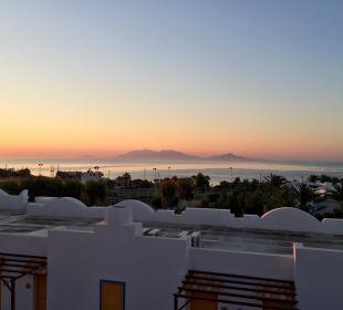 Aussicht vom Balkon Hotel Lagas Aegean Village