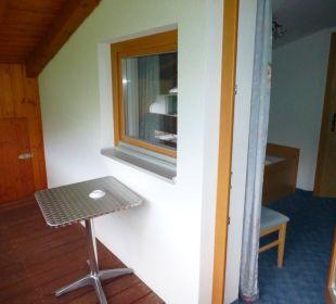 Balkon Zi. 308: Bergseite, eingeschränkte Aussicht Hotel Rustika