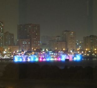 Wasserspiele in Sharjah in der Lagune Hotel Holiday International
