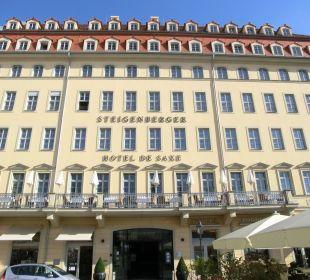 Vorderfront des Hotels Steigenberger Hotel de Saxe