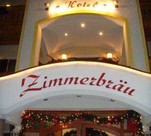Hoteleingang Hotel Zimmerbräu