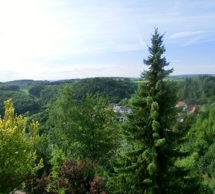 Blick vom Balkon Ringhotel Roggenland