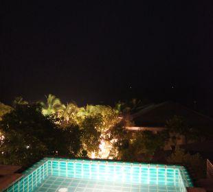 Abendansicht Terrasse des Zimmers Hotel Rest Detail Hua Hin