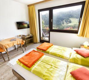 Doppelzimmer mit Balkon und Bergblick BergPension Lausegger